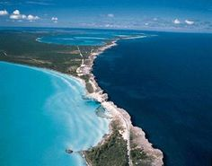 Glass WIndow Bridge located in Eleuthera, The Bahamas.  While driving on this bridge you can see the contrast of the Caribbean Ocean to the calming waters of The Bahamas. A must see when visiting!