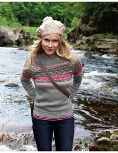 love the fair isle sweater.