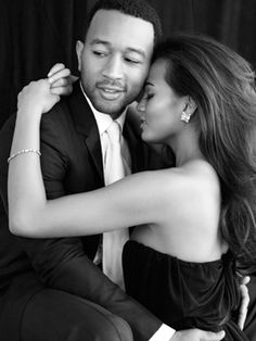John Legend and Chrissy Teigen.. I want a wedding photo just like this! #gorgeous