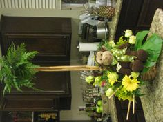 Monkey Baby shower theme   floral design by Christian Andrew