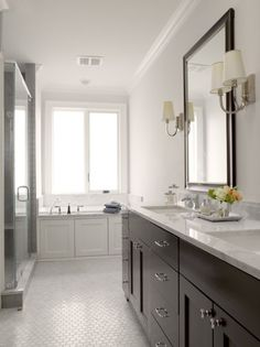 interior, floor, bathroom vanities, graciela rutkowski, country club, master baths, lake homes, subway tiles, tile showers