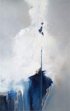 """HILDA - Abstraction bleu. Tirage pérenne """"Fine Art"""" TIPEA, sur papier Hahnemühle Museum Etching 350g, série limitée à 40"""