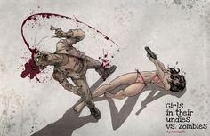 girl, massgrfx, art, zombi nation, dead, undi, babe, illustr, zombies