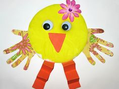 Handprint Baby Chick, Easter Crafts For Kids
