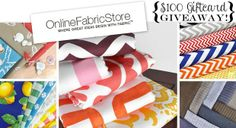 $100 Giftcard GIVEAWAY toward Online Fabric Store! {Sawdust and Embryos}