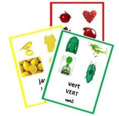 couleurs, imagier, afficher, bleu, vert, rouge, jaune, violet, orange, rose, blanc, noir,