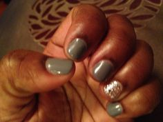 Fall gel mani. Love this color gray