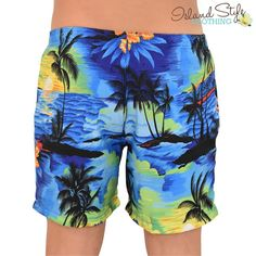 Blue Sunset Mens Sho