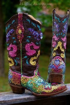 Paradise boots swarovski bling boots