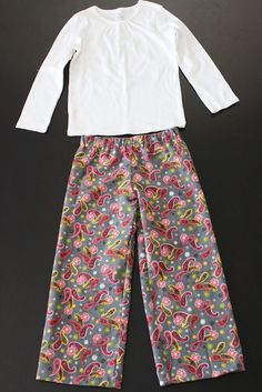 easy pj pant tutorial...I think I need to make some for me as tonight I am resorting to wearing Mike's