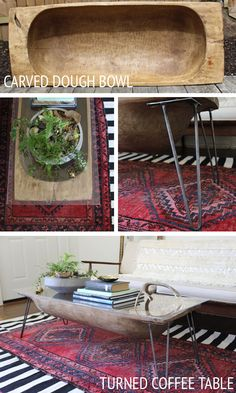 Dough Bowl turned Coffee Table by @Lindsay Dillon Dillon -The White Buffalo Styling Co.! #cwts2014 #upcycle #ontheblog