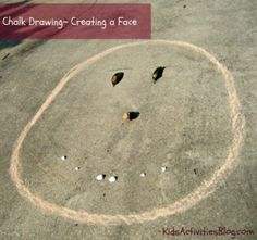 Use chalk to create faces!