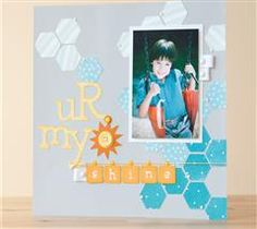 Capture a precious relationship with this cheerful layout!
