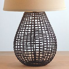 Pasha Basketwork Table Lamp Base | World Market