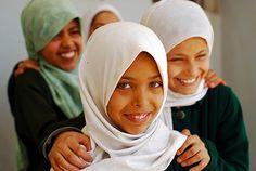 Girls in Yemen.