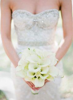 White calla lily bouquet | Brides.com