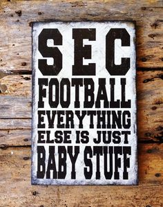 SEC Football by SignNiche. See all of our sports signs on www.signniche.com.