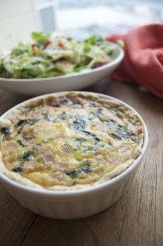 Spinach Gruyer quiche