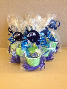 Seattle Seahawks Super Bowl Party Favors on Etsy, $36.00