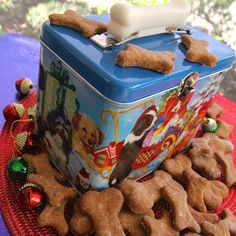 Doggie Biscuits I - This Holiday Season don't forget treats for your dog or friends' dogs.  This will be a gift everybody will remember.  #HomemadeHoliday
