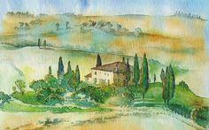 watercolors. landscape