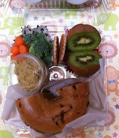 Mama's disposable lunch packed in a 4-pack muffin container.