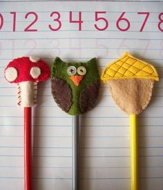 woodland felt pencil/cupcake topper tutorial