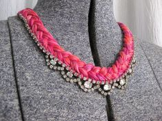 Thanks, I Made It: The Odd Couple: DIY Sparkly Embroidery Thread Necklace