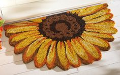 Sunflower Front Door Welcome Mat - Love Sunflowers!
