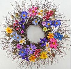 Wreaths For Door - McKenna's Colorful Melody All Weather Door Wreath, $62.99 (http://www.wreathsfordoor.com/mckennas-colorful-melody-all-weather-door-wreath/)