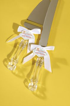 """Just Married in Fabulous Las Vegas"" Cake Knife & Server Set 