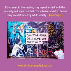 Great quote by Jean Piaget. (Image by Davidlohr Bueso via flickr CC BY 2.0) #psychology #PsychologyQuote #JeanPiaget #creativity
