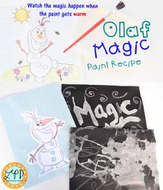 Olaf Magic Paint Recipe for Kids | A Little Pinch of Perfect