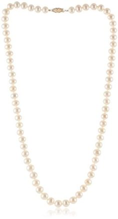 78% Off was $625.00, now is $140.00! 14k Gold 8.5-9mm White Freshwater Cultured AA Quality Pearl Necklace