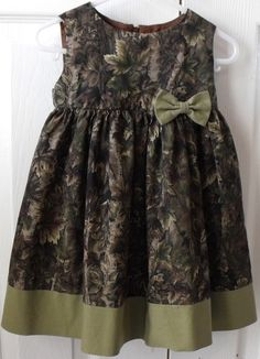 Camo dress for a little girl.