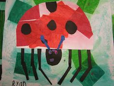 Artolazzi: The Grouchy Ladybug using tissue paper