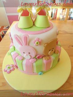 Baby Shower Cake Tutorial
