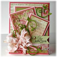 Stamps - Our Daily Bread Design Anchor the Soul, ODBD Blushing Rose Paper Collection, ODBD Custom Pennants Die, ODBD CUstom Fancy Foliage Die