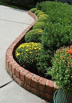 Raised flower beds brick