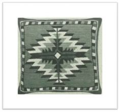 NAVAJO FLOOR PILLOW VINTAGE CROCHET PATTERN #1623: $7.50