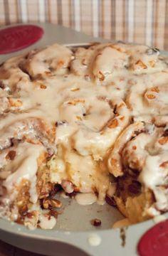 Easy Maple Pecan Cinnamon Rolls