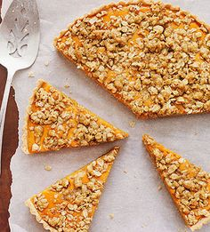 Pumpkin Streusel Tart: Capture the sweetness of the season with a dessert inspired by pumpkin pie. The buttery, nutty topping and thick crust make it heartier and crunchier—and dare we say, more delicious?—than the traditional dessert.