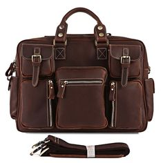 Neo Handmade Leather Bags | neo leather bags — Vintage Handmade Genuine Crazy Horse Leather Business Travel Bag / Messenger Bag / Duffle (n62-3)