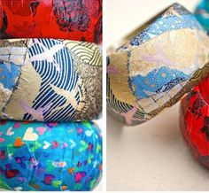 If you are looking for a DIY jewelry project to make with kids, these Darling Paper Decoupage Bangles are for you. With this fabulous project, you can make cute and colorful bangles in just ten minutes.