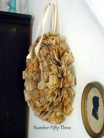 DIY:  Vintage Sewing Pattern Wreath Tutorial.