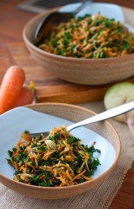 kale radish and apple salad