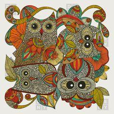 Valentina Ramos 4 Owls Duvet Cover | DENY Designs Home Accessories