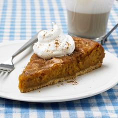 Pumpkin Gooey Butter Cake: The famous St. Louis dessert gets a makeover. More pumpkin recipes: http://www.midwestliving.com/food/holiday/28-pumpkin-recipes-we-absolutely-love/