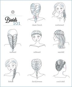 I'd love to try the conch shell if I have enough hair for it. Stepbystep Instruct, Step Tutori, Braid 101, Long Hair, Different Kinds Of Braids, Beauti, Braid Tutori, Different Kind Of Braids, Braid Styles