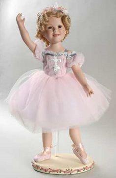 Beautiful Danbury Mint Shirley Temple Ballerina Porcelain Doll MIB